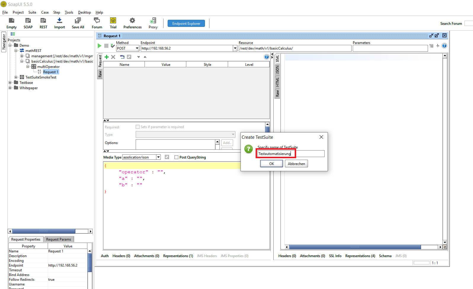Create TestSuite