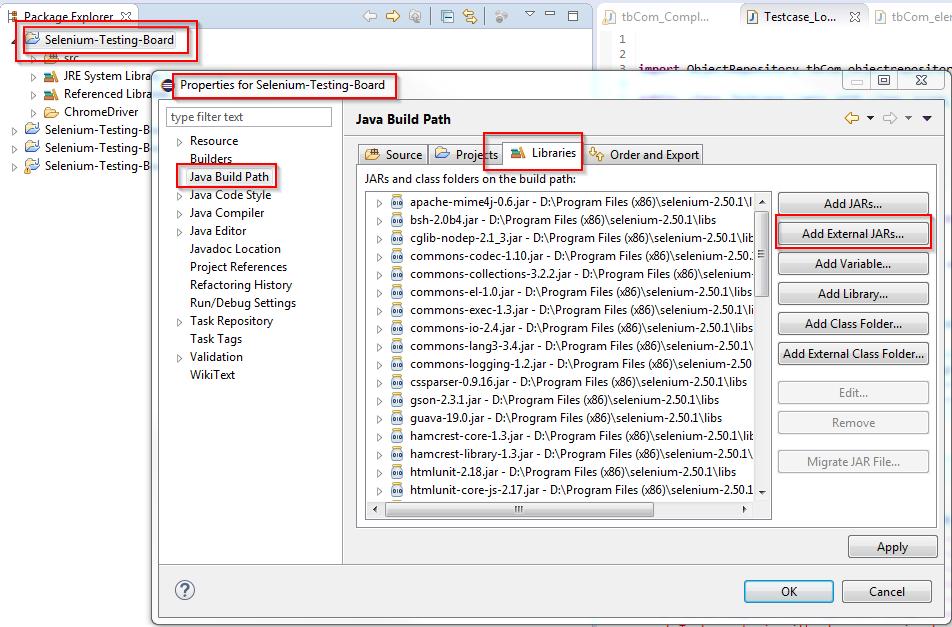 Tutorial_SE_1.040.Selenium_JARs_in_Eclipse_Java_Libraries_Properties