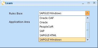 Auswahl SAP GUI in cFactory